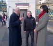 John meeting with Claire Perry at Carlisle Station