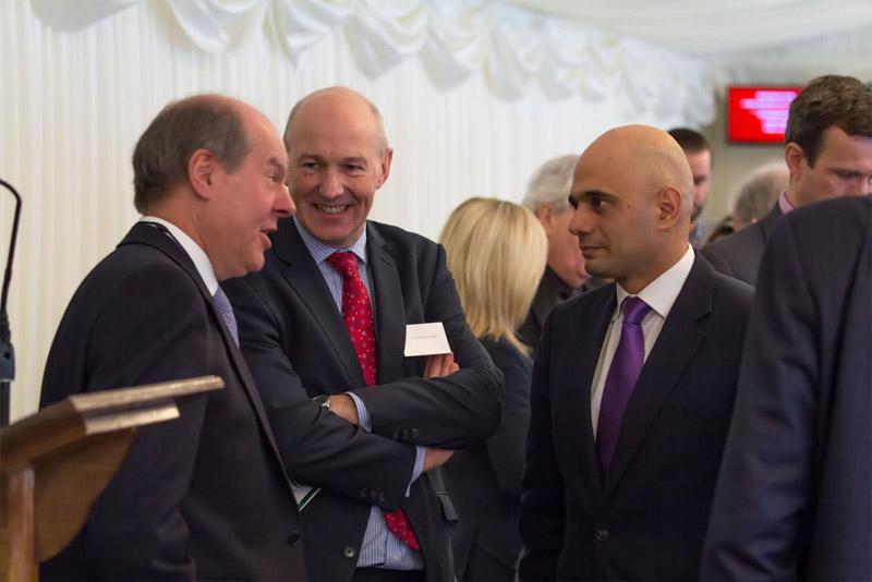 John Stevenson MP with Business Secretary of State, Sajid Javid and IFB Director General Mark Hastings