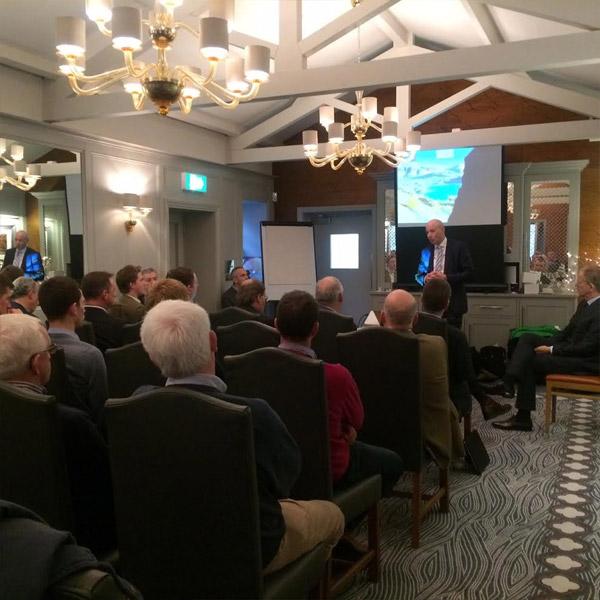 John speaking at the Cumbrian Dairy Consortium Entrepreneurs Event
