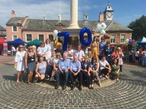 NHS birthday celebration in Carlisle city centre