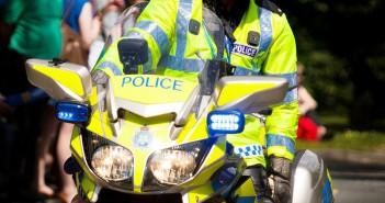 Policeman on Police Bike