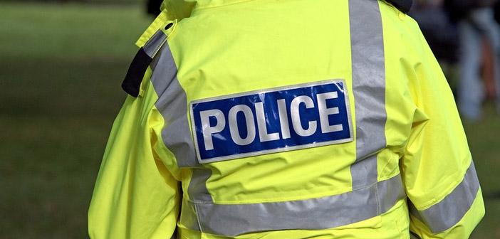 Back of Police Jacket