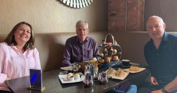 John and Chairman of Cumbria Tourism, Jim Walker on Eat out to Help out scheme restaurant