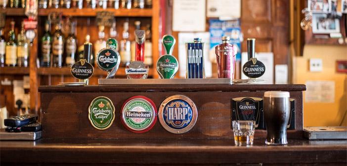 The bar at a Pub