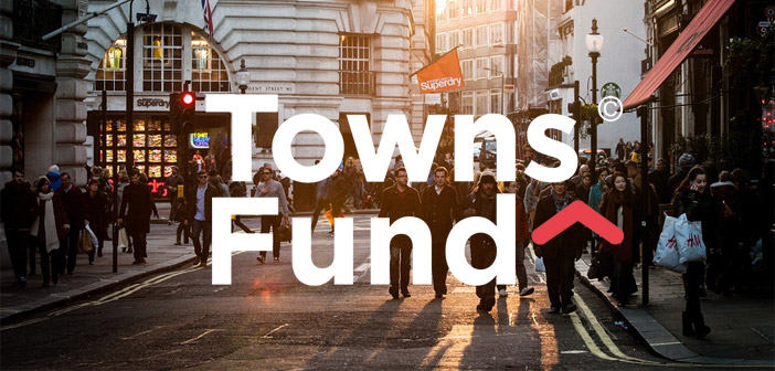 Towns Fund written above a town centre