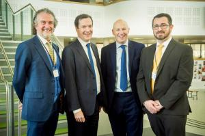 John with Chairman of the Northern Powerhouse Partnership, George Osborne visiting Richard Rose Central Academy