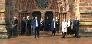 John attending meeting at Carlisle Cathedral celebrating EnglishTourismWeek21, which included tourism businesses from across Carlisle
